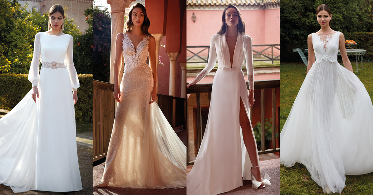 4 wedding dresses for an intimate wedding