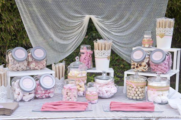 C mo preparar t misma el candy bar para la boda blog for Fotos de mesas de chuches para bodas