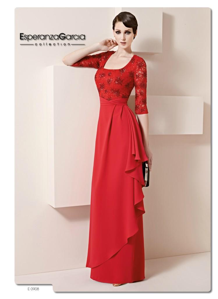 Vestidos rojos para madrina de bodas