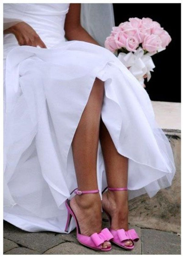 novias con zapatos de color | blog higarnovias