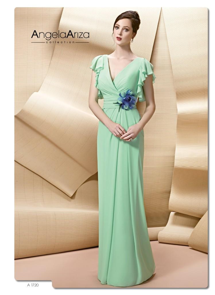 Vestidos de madrina color verde agua