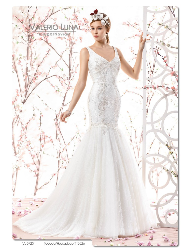vestidos de novia corte sirena valerio luna | blog higarnovias