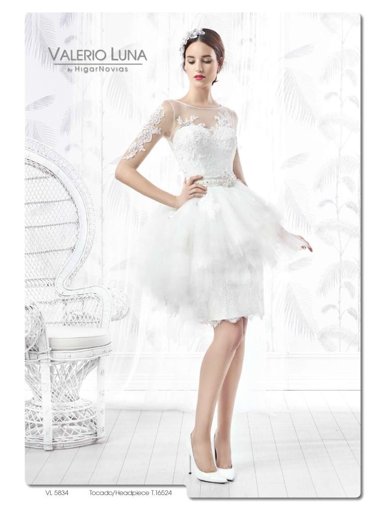 d32cc39985f8b Vestidos de novia cortos Valerio Luna