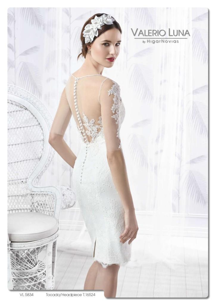 vestidos de novia cortos valerio luna, colección 2016 | blog higarnovias
