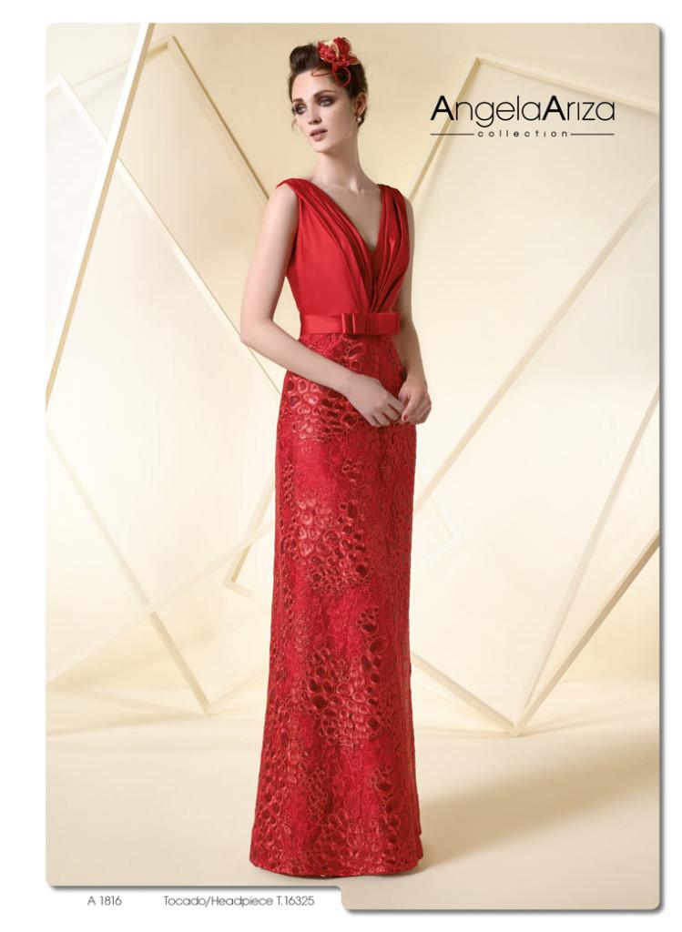 613a83ea9 El rojo como protagonista para tu vestido de fiesta. Colección 2016 ...