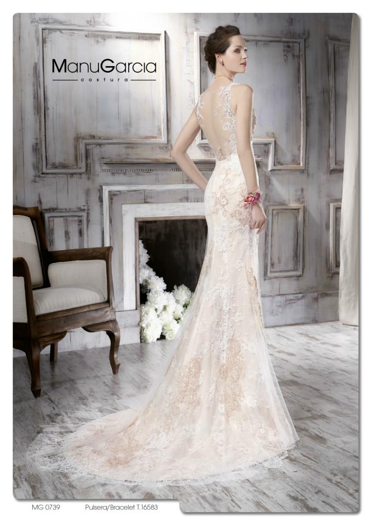 2 vestidos de novia en color champagne | blog higarnovias