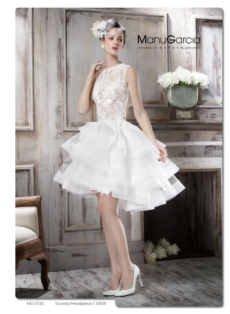 b18a58b38c Vestidos de novia cortos. Colección 2016