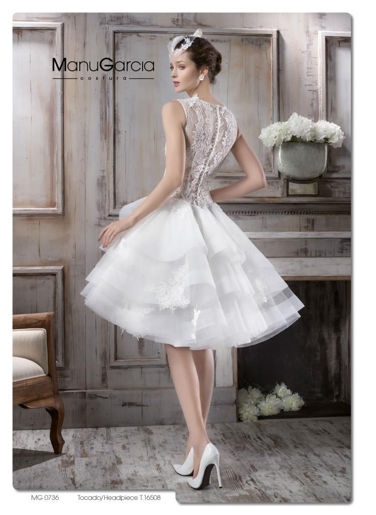 f57513cbb6cde Vestidos de novia cortos. Colección 2016