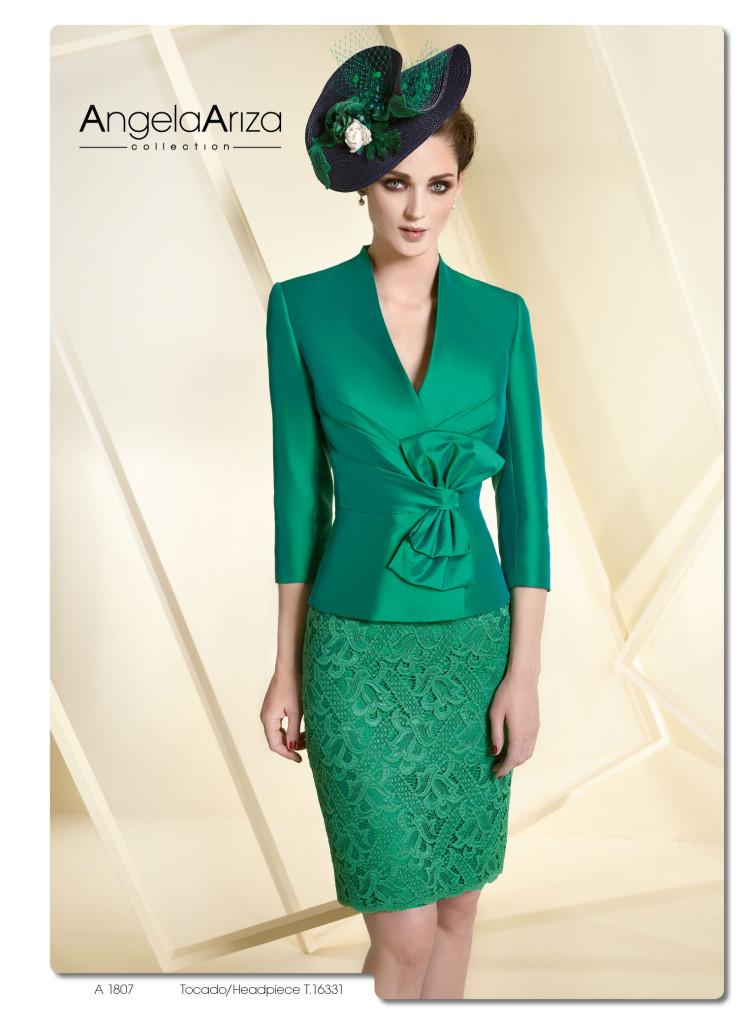 Chaqueta para un vestido verde