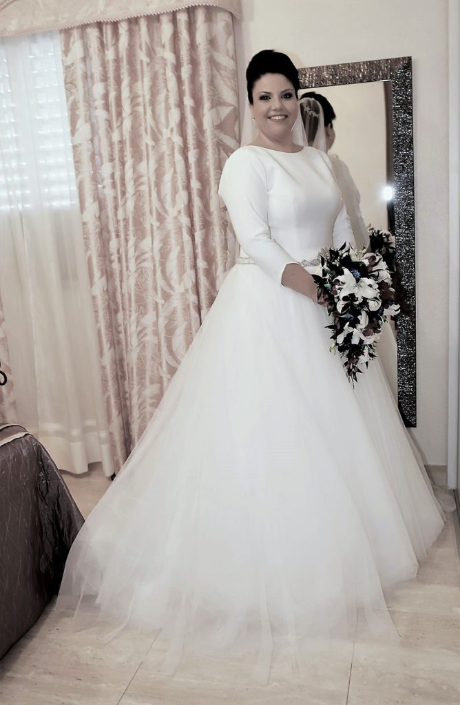 el vestido elegido por almudena para su boda | blog higarnovias