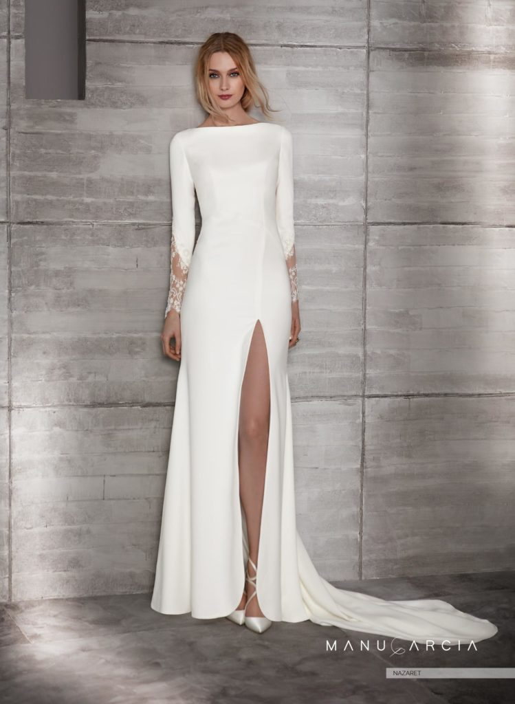 7da789cfe Los vestidos de novia con manga larga en estas fechas son muy demandados