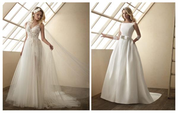 Vestidos de novia de Valeri Luna. Modelos Calibu y Cancún