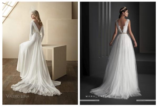 Vestidos de novia con escotes-V