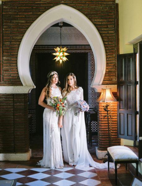 Vestidos de novia Camino y Coral de Valerio Luna en Cortijo Sabila